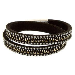 Black Studded Wrap Bracelet,