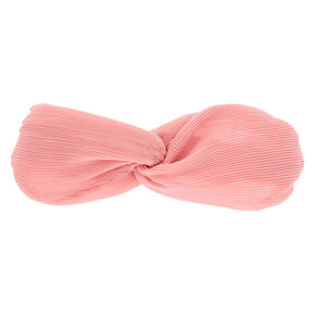 Ribbed Knot Headwrap - Blush Pink,