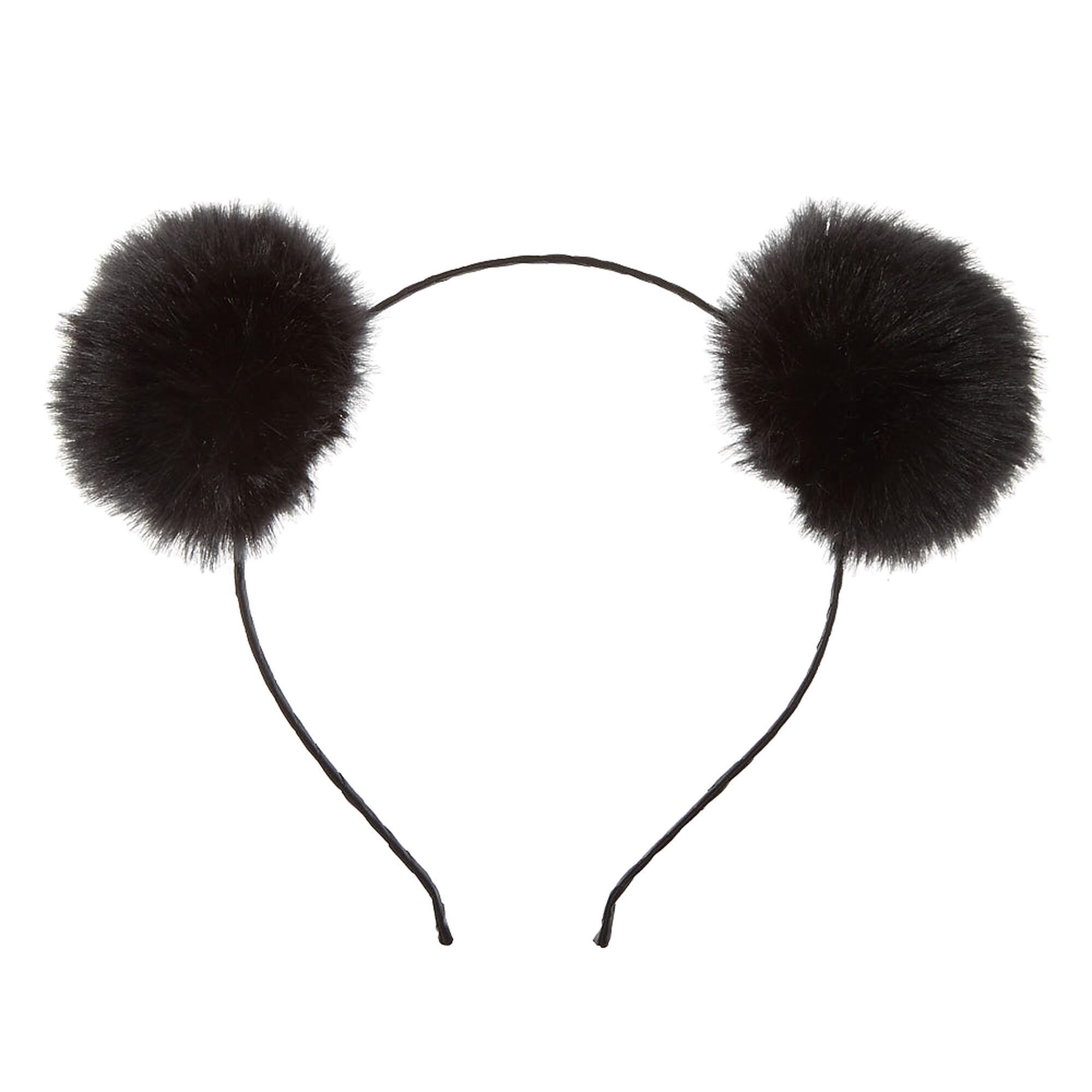 2ac903ac6e8 ... Black Pom Poms Headband