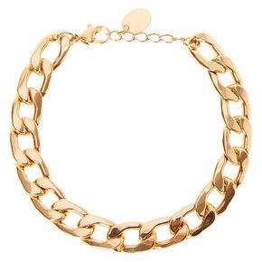 Gold Link Chain Bracelet,