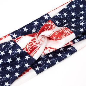 American Flag Bandana Twisted Headwrap,