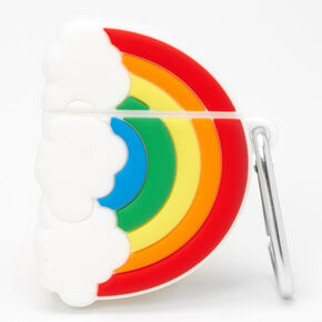 Rainbow & Clouds Silicone Earbud Case Cover - Compatible with Apple AirPods,