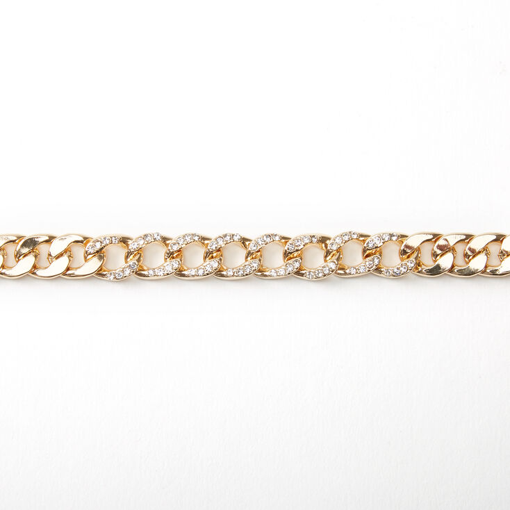 Gold Bling Chunky Chain Choker Necklace,