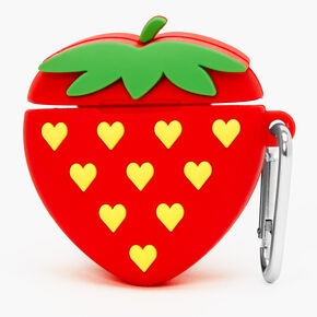 Red Strawberry Silicone Earbud Case Cover - Compatible with Apple AirPods®,