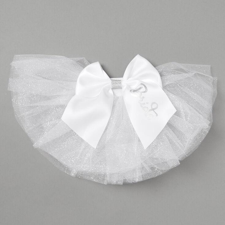 Bride Glitter Bikini Tutu - White,