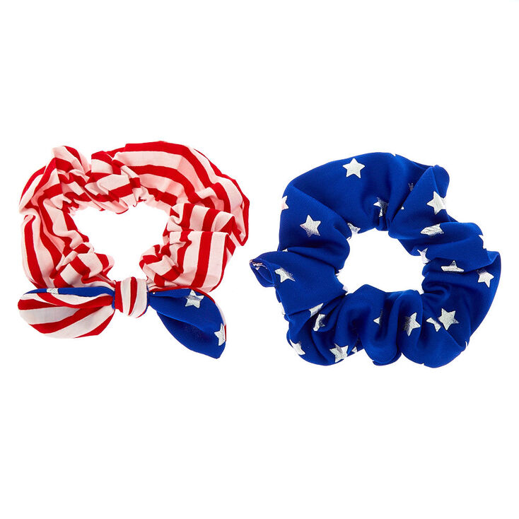 Small American Flag Scrunchies - 2 Pack,