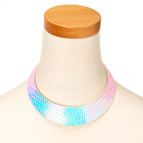 Mer-Mazing Holographic Choker Collar Necklace,