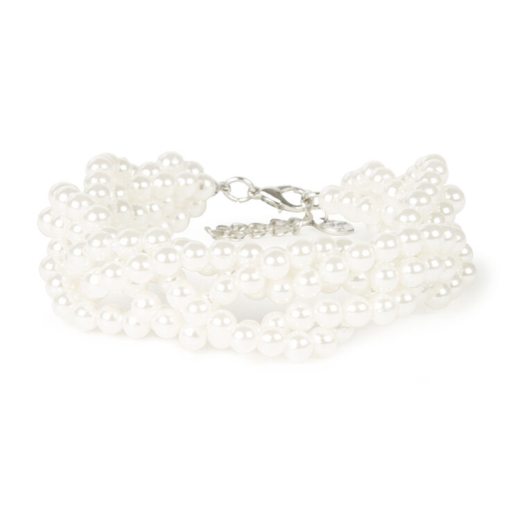 Pearl Braided Chain Bracelet,