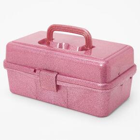 Glitter Makeup Holder Case - Pink,