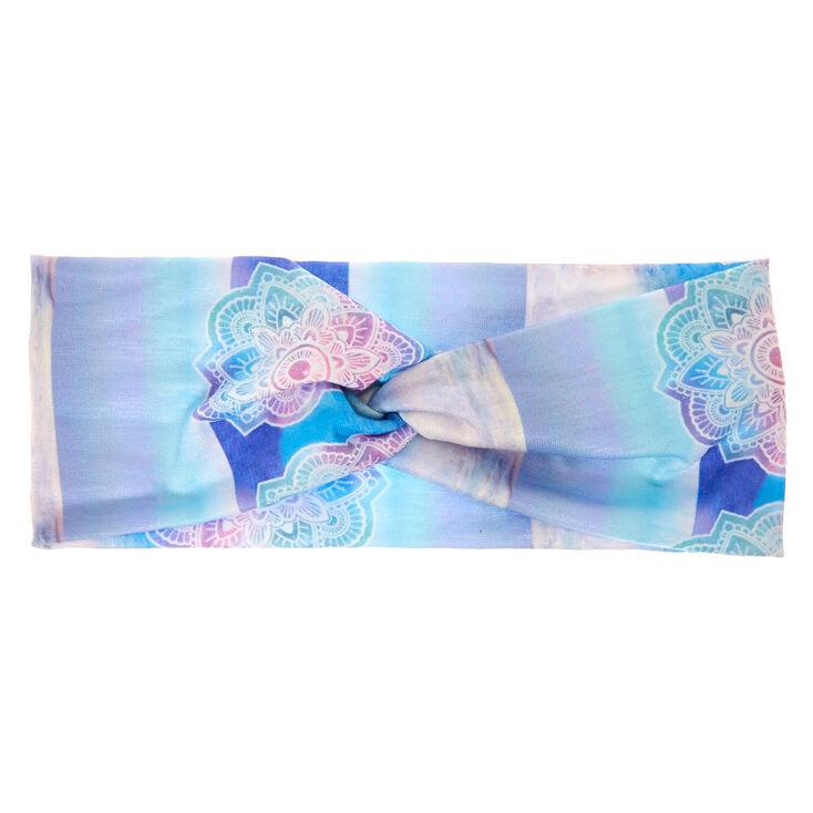 Watercolor Mandala Wide Jersey Headwrap,