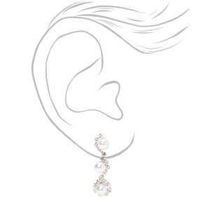 Silver Rhinestone Pearl Jewelry Set - 4 Pack,