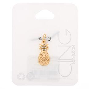 Gold Pineapple Charm,