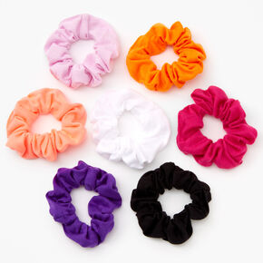 Solid Hair Scrunchies - Brights/7 Pack,