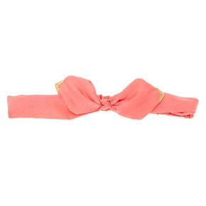 Coral Satin Bow Headwrap,