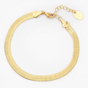 18kt Gold Plated Refined Snake Chain Bracelet,