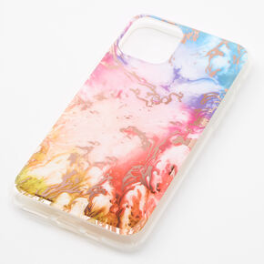 Gold Rainbow Marble Phone Case - Fits iPhone 11,