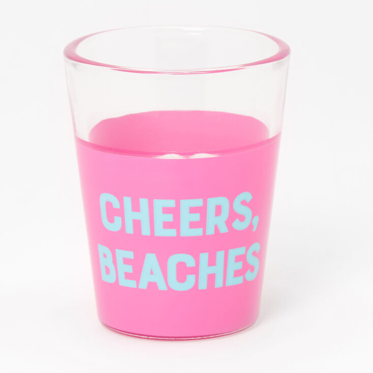 Cheers Beaches Palm Tree Shot Glass - Pink,