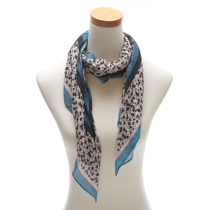 Square Floral Paisley Scarf,