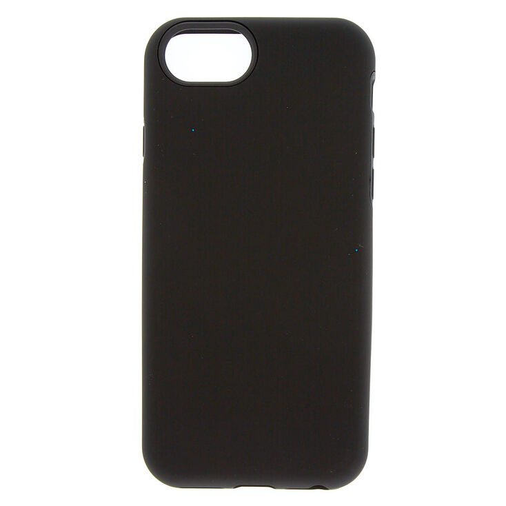 Matte Black Protective Phone Case - Fits iPhone 6/7/8 Plus,