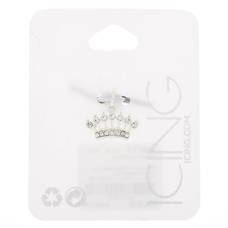 Silver Crown Charm,