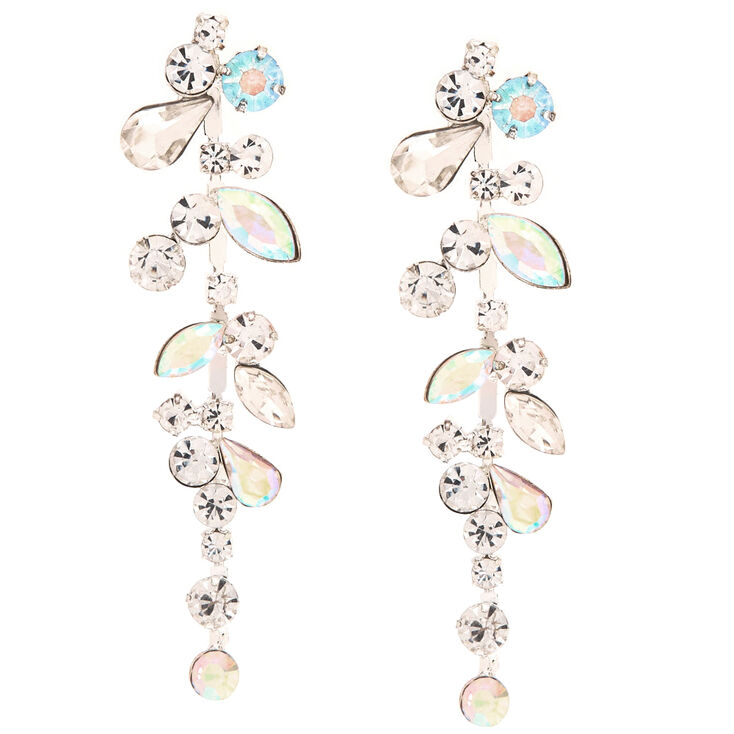 Crystal & Stone Bundle Drop Earrings,