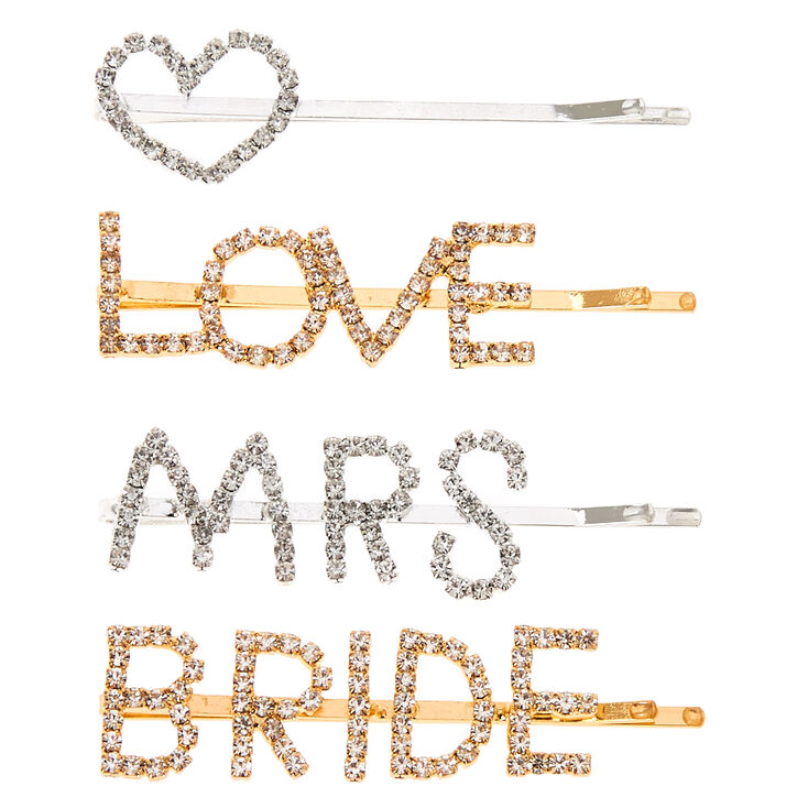 Bridal Crystal Hair Pins - 4 Pack,
