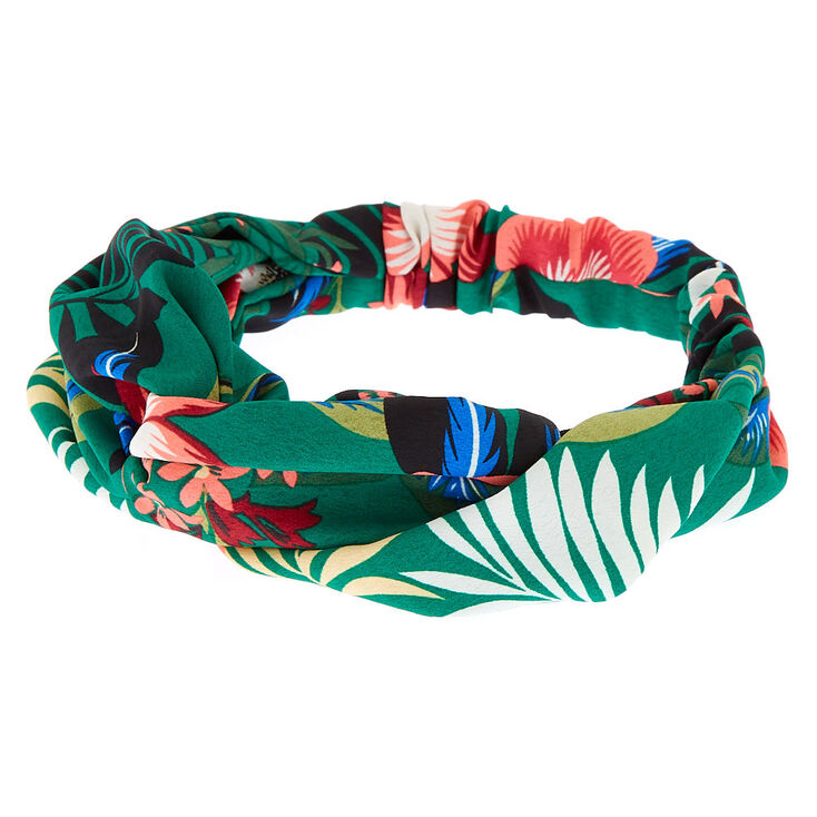 Floral Headwrap - Green,