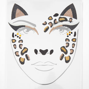 Leopard Cat Face Tattoos,