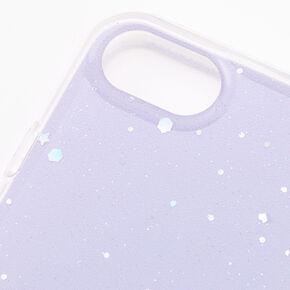 Lavender Glitter Star Liquid Fill Phone Case - Fits iPhone 6/7/8/SE,