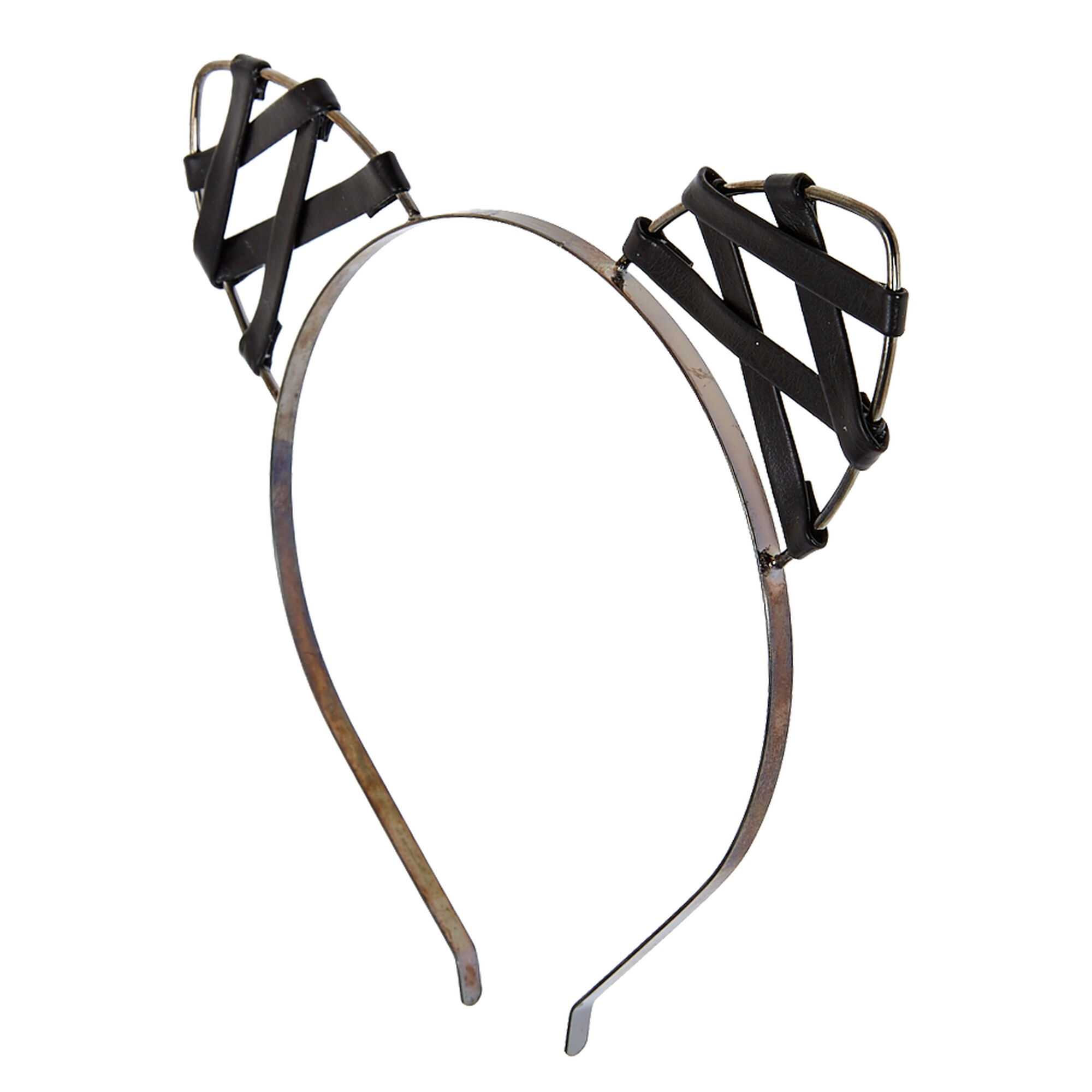 Faux Leather Cat Ears Headband | Icing US