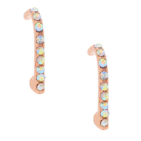 18kt Rose Gold Plated Suspender Earrings,