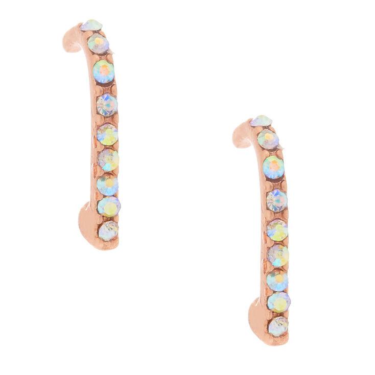 18kt Rose Gold Plated Suspender Earrings,