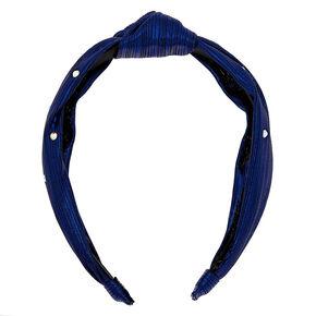 Metallic Twist Stone Headband - Navy,