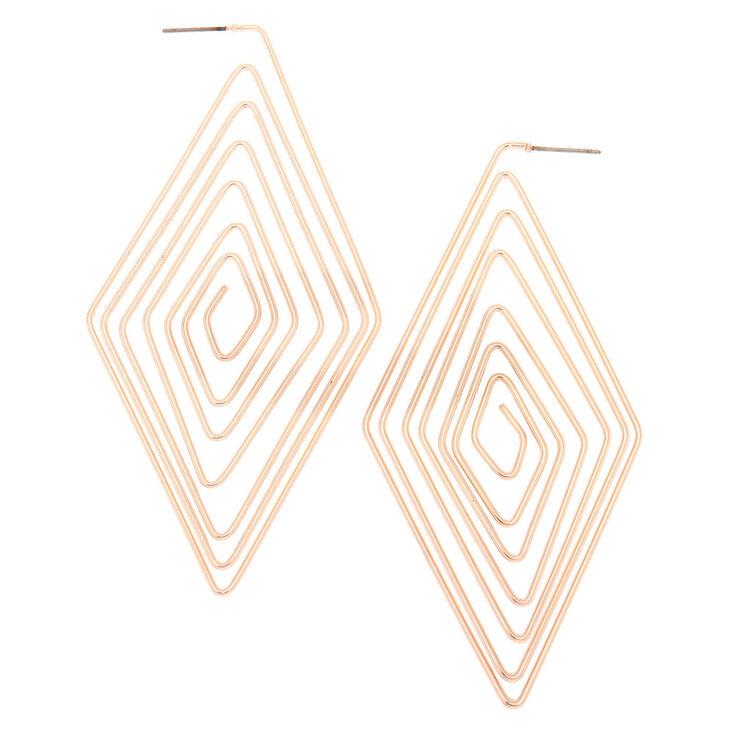 Rose Gold 80MM Diamond Spiral Hoop Earrings,