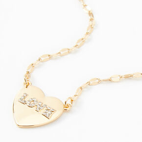 Gold Heart Love Pendant Necklace,