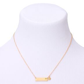 Gold November Birthstone Bar Pendant Necklace - Topaz,