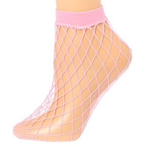 Blush Fishnet Ankle Socks,