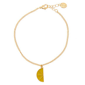 Gold Toned Lemon Anklet,