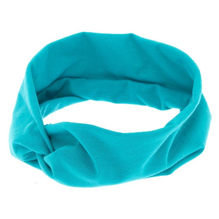 Wide Jersey Ocean Green Headwrap,