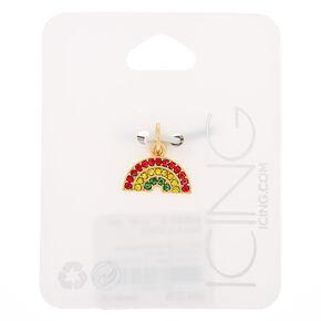 Gold Embellished Rainbow Charm,