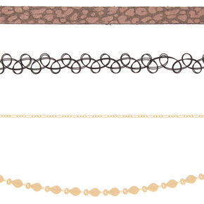 Wild Side Choker Necklaces - 4 Pack,