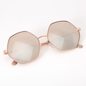 Hexagon Sunglasses - Rose Gold,