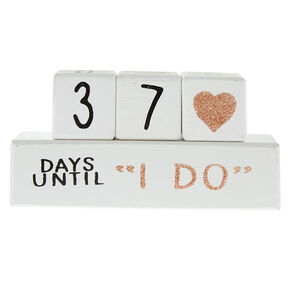 Wedding Countdown Blocks - White,