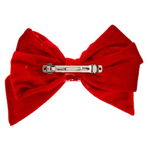 Mrs. Claus Hair Bow Clip - Red,