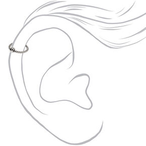 Silver 16G Twisted Cartilage Hoop Earring,