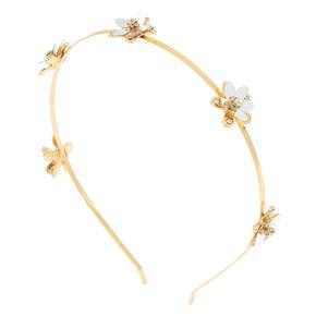 Gold Sequin Flower Headband,