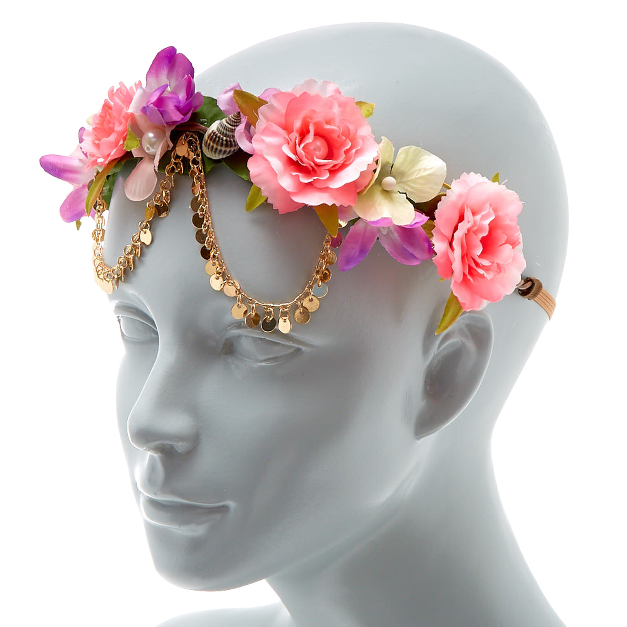 Seashell flower crown headwrap pink icing us seashell flower crown headwrap pink izmirmasajfo