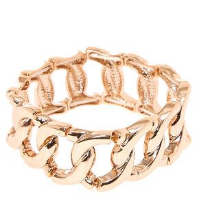 Rose Gold Large Link Bracelet,