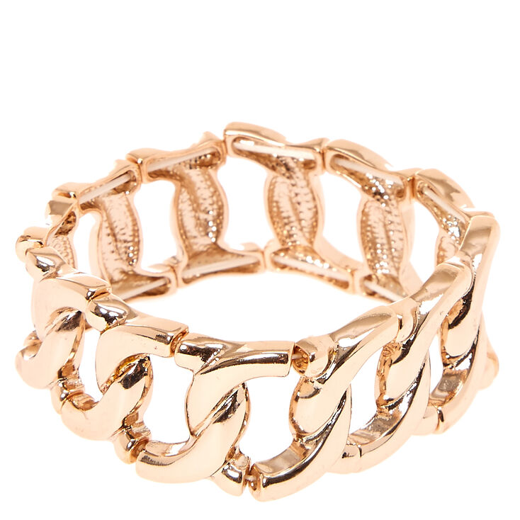 Rose Gold Large Link Bracelet,
