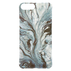 Marble Swirl Phone Case - Black,